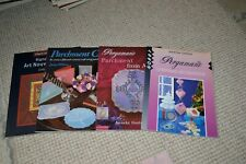 Parchment craft book bundle including Pergamano