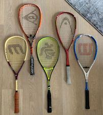 lot of 5 Squash Racquets - BLACK KNIGHT - DUNLOP - HEAD - MANTA - WILSON