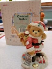 Cherished Teddies ~ Nickolas~ Christmas Santa Bear Top Of My List MiB