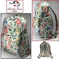 Girls Backpack Rucksack School College Travel Laptop Canvas Bag Retro WATERPROOF