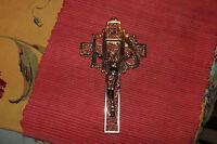 Vintage Art Deco Jesus Christ Religious Christianity Cross Metal Crucifix