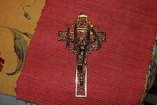 Vintage Art Deco Jesus Christ Religious Christianity Cross-Lovely Crucifix-LQQK