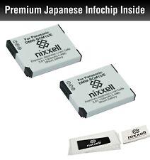 2 PACK Nixxell  DMW-BCM13, DMW-BCM13E Battery for Panasonic Lumix DC-TS7 DMC-TZ3