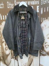 Men's Vintage Barbour Beaufort Wax Jacket Blue Hunting Medium Chest 38 97CM