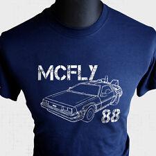 McFly 88 T Shirt Back to The Future Marty Delorean DMC12 Doc Brown Biff Flux Blu