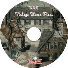 1001 House & Home Plans { 49 Vintage Books with Floorplans } on DVD