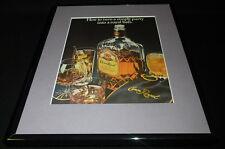 1985 Crown Royal Whisky Framed 11x14 ORIGINAL Advertisement C