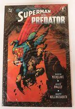 Superman Vs. Predator DC Comics Dark Horse Graphic Novel Comic Book