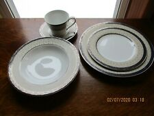 LOVELY Retired Delacourt by Mikasa 5 Pcs Place Set ~ OUTSTANDING