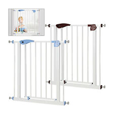 Auto Close Safety Gate Door Barrier Home Indoor Stair Fence White 80-91cm