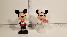 (Lot 523) Walt Disney Collectables - Mickey & Minnie Salt and Pepper Shakers