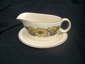 Poole SHERWOOD. Gravy Boat and Stand