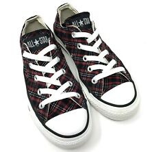 Converse Chuck Taylor All Stars Womens 6 Mens 4 Plaid Low Top Red Black White