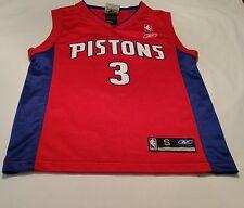 Ben Wallace Detroit Pistons Nba Reebok Basketball Jersey #3 Youth Small
