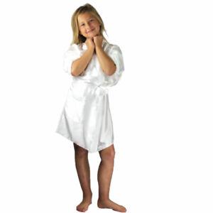 Children's Ivory Satin Kimono Robes | Perfect for Sublimation Printers