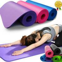 NEW Extra Thick Yoga Mat Non-Slip Exercise Pilates Gym Picnic Camping Hiking Pad