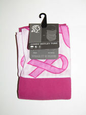 Breast Cancer Pink Ribbon Combo Motley Tube Head Wrap Scarf Multi Purpose