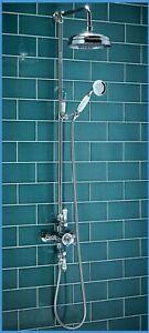 Traditional Edwardian Rigid thermostatic Riser Shower, chrome finish