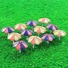 TYS41100 12pcs Model Train Sun Umbrella Parasol 1:100 TT Scale Garden Sea Beach