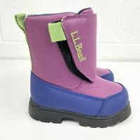 LL Bean Snow Boots Purple Waterproof Insulated Youth Toddler Little Girls Size 6