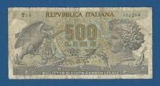 ITALIA // ITALY -- 500 LIRE ( 20.10.1967 ) -- BC // F -- PICK 93a .