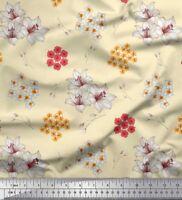 Soimoi Stoff Lilie & Ananas Blumen- Stoff Meterware bedrucken - FL-1331L