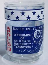 Vintage Apollo 13 Safe Return April 17 1970 Drinking Glass Lovell Haise Swigert