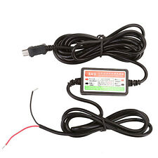 DC 12V/24V To DC 5V Mini USB 2.1A Direct Charger Cable for Dash Camera Recorder