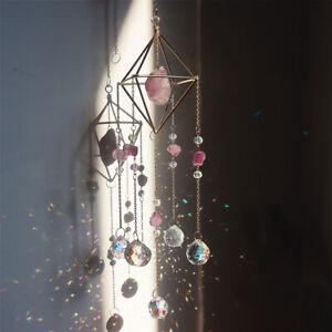 Quartz Crystal Sun Catcher Amethyst Pendant Suncatcher Wind Chimes Home Decor
