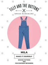 Womens CONFIDENT BEGINNER The Mila Dungarees UK SIZES 6-20 Sewing Pattern