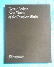 Hector BERLIOZ - New Edition of the Complete Works - Vol.10 BÄRENREITER 5450 RAR