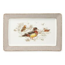 Williams Sonoma Plymouth Gate Duck Rectangular Platter-Fall,Up North-New