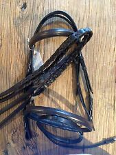 Beautiful Equipride Flash Bridle Raised Browband & Noseband & Laced Reins Full