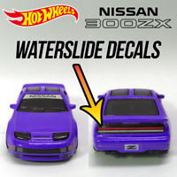 Hot Wheels Nissan 300ZX Custom waterslide white toner Decals Banner Taillights
