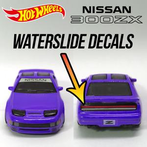 Hot Wheels Nissan 300ZX Custom waterslide white toner Decals Banner Taillights