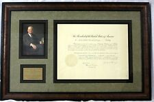 Herbert Hoover - Document Signed as President; DS, Signature, Autograph, Framed
