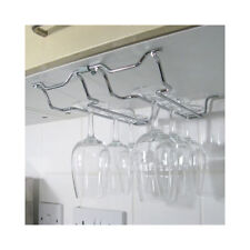 Wine Glass Storage Hanging Rack Shelf Assembly 2 Columns