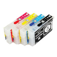 4x Auto Reset Chips Refillable epson 29 XL ink cartridges for XP247 XP332 XP335