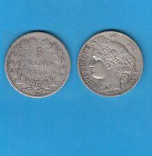 // Gouvernement de Défense Nationale 5 Francs Cérès argent 1870 Paris