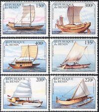 Benin 1999 Ships/Boats/Sailing/Sail/Canoes/Nautical/Transport 6v set (s168)
