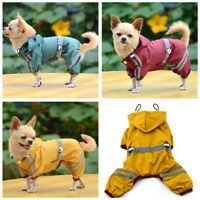 Waterproof Dog Hooded Raincoat Rain Coat Pet Jacket Puppy Clothes Coat Outwear