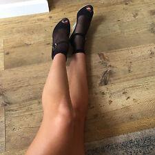 Gipsy Fishnet Ankle Highs. Black. 80% Nylon 20% Elastane. One Size. 1 Pair