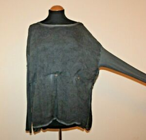 BITTE KAI RAND Fabulous button detailed top size L 50'' chest in grey
