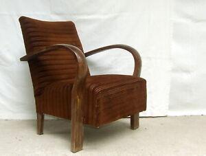 Art Deco Club Chair. Armchair, Cocktail Chair 1920s Vintage Antique Halabala.