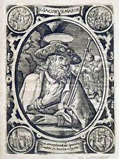 Kupferstich, Hl. Jacobus Maior, Köln, ~ 1610, Sterbezettel 1806