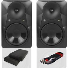 2x Mackie MR824 Active 20.3cm DJ MONITEURS STUDIO AVEC COUSSINETS ISOLANTS &