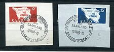 GERMANY SAAR 1948 SCOTT 201-202 MAP OF SAAR LOVEY FIRST DAY CANCELLED VARIETY