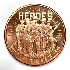 2nd Amendment Liberty Gun Dollars .999 Pure Copper COIN ROLL OF 20 COINS