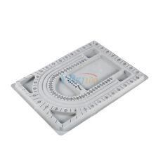 Grey Flocked Bead Board Necklace Design Tray Jewelery Making DIY Craft Tool New