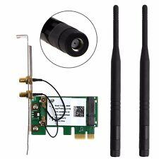 2.4/5GHz Dual Band Wireless Desktop WIFI WLAN Card 300M PCI-E X16 X1 PC Computer